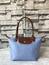 100% Authentic Longchamp Le Pliage Small Tote Bag Light Blue 2605089A30 0314b48f49698
