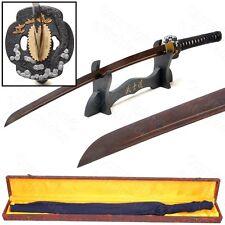 Musashi Hand Forged Folded RED Damascus Steel Samurai Katana Sword Razor Sharp