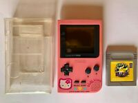 NINTENDO GAME BOY POCKET MGB-001 CONSOLE 1996 HELLO KITTY PINK  TESTED!