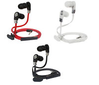 3.5mm In-Ear Headphone Noodle Earphone Flat Earbud Headset For Samsung iPhone