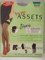 Spanx Assets by Sara Blakely Ultra Sheers Shaping Kit 845B - Black Size 3