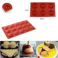 3D Half Ball Silicone Chocolate Mold Cupcake Cake Sugarcraft Mould Baking Tools