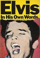LIVRE ELVIS PRESLEY-ELVIS IN HIS OWN WORDS- USA - 1977 -RARE ! NOMBREUSES PHOTOS