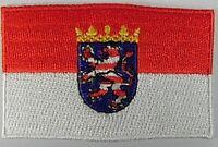 Hessen Deutschland Aufnäher gestickt,Flagge Fahne,Patch,Aufbügler,6,5cm,neu
