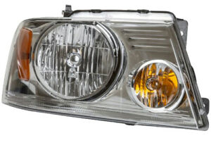 Headlamp Assembly Right Passenger Side W. Chrome Trim For FORD F150 F250 F350