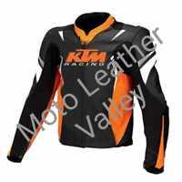KTM RedBull Motogp Motorbike / Motorcycle Racing Cowhide Leather Jacket