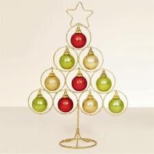Weihnachten gold Draht Baum mit roter ; grün gold Kugeln