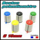 1302# 1 à 10pcs ø15mm bouton pour potentiomètre axe 6mm- excellente qualité