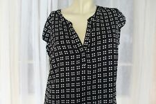 SIZE 10 PORTMANS BLACK AND WHITE GEOMETRIC PRINT BLOUSE TOP 🍡POST ANY 5 FREE