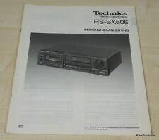 Technics RS-BX606 Bedienungsanleitung Deutsch