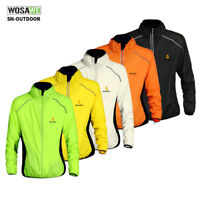 Men's Cycling Jersey Long Sleeves Waterproof Wind Coat Reflective Bike Jacket