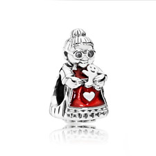 NEW Glasses old lady Spacer Enamel Glamour Bead For 925 Silver Charms Bracelet