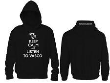 Felpa Personalizzata Keep Calm and listen to vasco