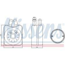 1 refrigerador del aceite, aceite del motor Nissens 90606 adecuado para AUDI SEAT SKODA VW