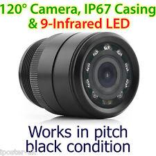 28mm Infrared IR CCD Waterproof Towbar Bumper Car Reversing Camera Parking