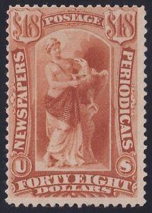 US STAMP BOB #PR78 $48 Y. BROWN1879 Newspaper Periodicals Stamp UNUSED/NG $350