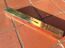 "Vintage Mahogany and Brass 12"" Spirit Level by A H Buckley"