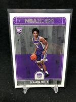 2017-18 NBA Hoops De'Aaron Fox RC Base Rookie Card #255 J60