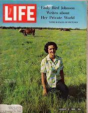 1965 Life August 13 - Lady Byrd Johnson; Ronald Reagan; Tennis rules change