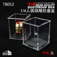 "TOYS-BOX 1/4 Scale Transparent Dustproof box Fit 18"" Action Figure Head Sculpt"