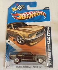 2012 HOT WHEELS-SUPER TREASURE HUNT '67 FORD MUSTANG COUPE-REDLINE-MUSCLE MANIA