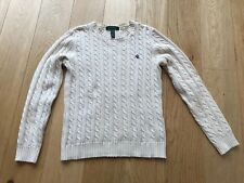 Ralph Lauren Women's Cable Knit Sweater, Jumpers Knitwear Polo Size XS