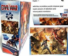 Marvel CAPTAIN AMERICA Civil War Super 3D Lenticular 300pcs PUZZLES (3+)NEW