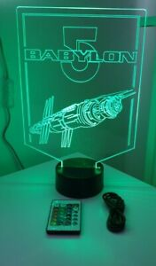 Babylon 5 multi coloured led light with remote control battery or usb