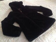 Me Jane Womens Coat Faux Fur Size Small Black Very Soft