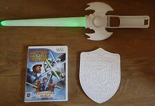 GREEN LIGHT SABER + SHIELD+ STAR WARS THE CLONE WARS=NINTENDO Wii=LIGHTSABER