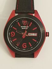 Detomaso Black and Red Watch