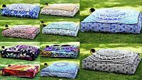 Indian Mandala Floor Pillow Large Meditation Throw Ottoman Cushion Cover Throw