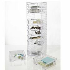Acrylic 10 Removable Drawer Tower for Makeup, Jewelry, Small Item Organization