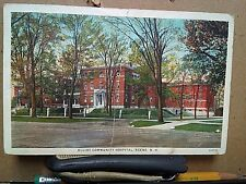 ELLIOT COMMUNITY HOSPITAL Keene New Hampshire AMERICAN ART 1-cent Franklin 1931