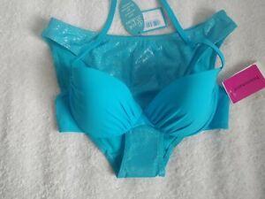 LA SENZA /Passionata mix n match Blue Bikini ~size 34C/14~NWT