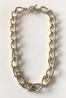 """Fossil Brand Gold Tone Chunky  Link Chain Necklace Toggle 18.5"""""""