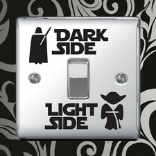 Star Wars Dark Light Side Light Switch Vinyl Sticker Bedroom Removable