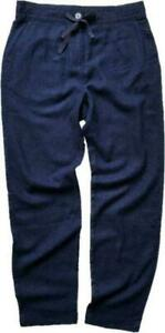 NEXT CASUAL Navy Woman's Tapered Leg Linen Blend Trousers SZ 8/20 ONLY £14.95