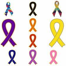 Ribbon Awareness Enamel Lapel Pin Badges