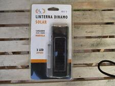 LINTERNA DINAMO / SOLAR 3 LED