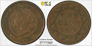 "Canada Victoria ""Double Punched Narrow 9, Type 1"" Cent 1859 PCGS XF40"