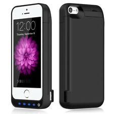 For iphone 5 5s 5c Battery Case 4800mAh Ultra Slim Extended Batery Backup Black