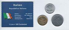 Italien Münzsatz Kursmünzen 5/20-50 Lire 1977/1978 Lira Münzblister Noppenfolie
