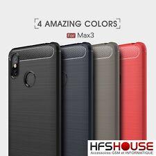 Custodia Xiaomi Mi Max 3 Finestra Portacarte Cover Silicone Gel Nero