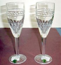 Waterford LAUREL Champagne Flutes SET/2 Crystal Made in Ireland #117888 New