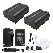 2x EN-EL3e Battery + Charger for Nikon D50 D70 D70s D90 D90s D100