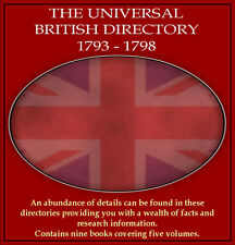 Universal British Directory 1793-1798 - extensive coverage for England and Wales