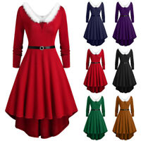 Sexy Ladies V Neck Christmas Fancy Dress Santa Claus Outfit Xmas Party Costume