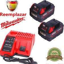 18V Milwaukee Batería M18B5 M1850 5Ah Cargador M12-18C Li-ion M1890 XC 48-11-185