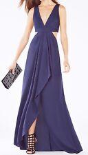 New W tag $368 BCBG Max Azria Elinne Cutout Pleated Jersey B5008 Dress Sz 0